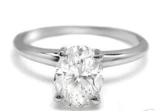 OVAL STERLING SILVER SOLITAIRE CZ ENGAGEMENT RING SZ6 9