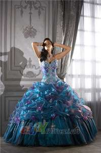 New Quinceanera dress Prom Ball Gowns Evening Dresses SZ 4 20 CUSTOM