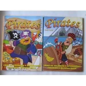 Piratas libro de colorear y actividades (Pirates Coloring