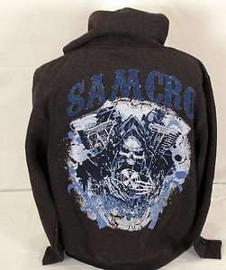 BLOWOUT! NEW SONS OF ANARCHY V TWIN GRIM REAPER SAMCRO SOA HOODIE