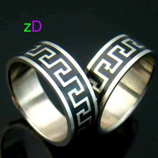11 Mens Style Black Wide Stainless 316L Steel Ring Fashion Jewelry