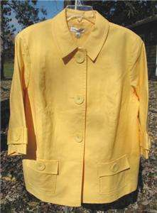 Coldwater Creek Big Button Trench Style Jacket