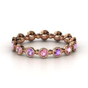 Seed & Pod Eternity Band, 14K Rose Gold Ring with Pink