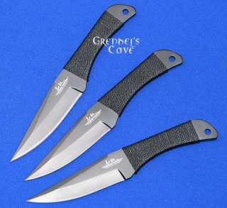 RARE Black HIBBEN CUSTOM THROWING KNIFE SET 3 Knives