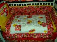 Baby Nursery Crib Bedding Set w/Kansas City Chiefs NEW