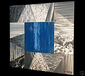 ABSTRACT STAINED GLASS MODERN METAL ART WALL SCULPTURE