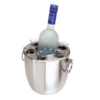 Double Wall Vodka Set w/ 6 Shot Glasses by Oggi