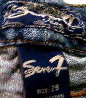 SEVEN 7 Premium Stretch Low Boot Jeans Waist Size 29