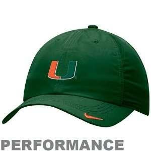 Nike Miami Hurricanes Green Feather Light Performance
