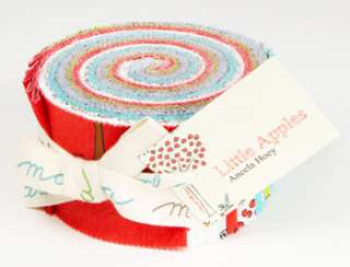 LITTLE APPLES ANEELA HOEY MODA CRAFT FABRIC JELLY ROLL