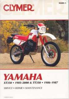 Yamaha XT / TT 350 1985   2000 Service Manual
