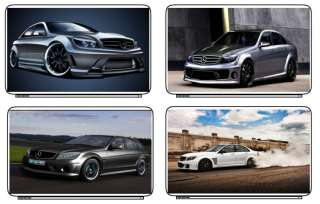 Cars Mercedes C63 AMG Laptop Netbook Skin Cover Sticker