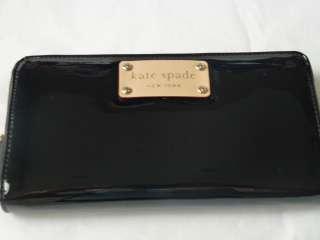Kate Spade Henry Street Neda Black Zip Around Wallet NEW