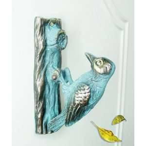 Brass Decorative Big Woodpecker Door Knocker:  Kitchen