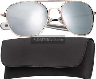 Military 58mm Pilots US Air Force Aviator Sunglasses