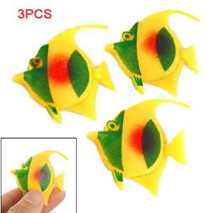 Como 3 Pcs Yellow Green Plastic Floating Fish Aquarium