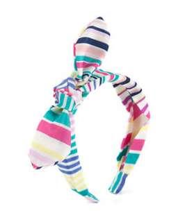 null (Multi Col) Multicoloured Striped Bow Alice Band  249570499