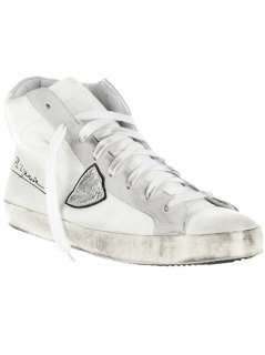Philippe Model Distressed High Top Trainer   Bernardelli   farfetch