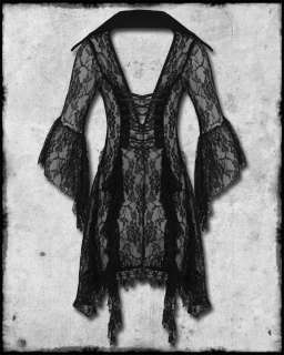 BANNED CLOTHING BLACK LACE OPHELIA GOTH STEAMPUNK VICTORIAN VAMPIRE