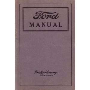 1920 1924 1925 1926 FORD Car Truck Owners Manual Guide