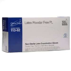 Latex Powder Free Medical Exam Gloves Medium 100/box