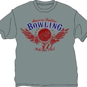 Thats How I Roll Bowling T Shirt  Gray