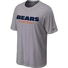 Nike Chicago Bears Sideline Legend Authentic Font Dri FIT T Shirt