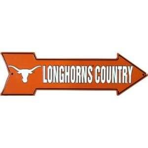 Texas Longhorns Country Metal Arrow Sign