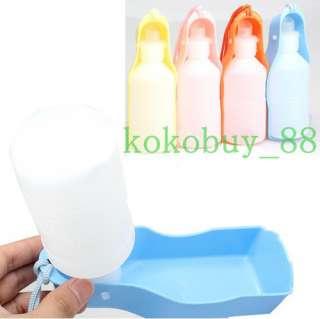 New Portable Pet Dog Travel Water Feeding Bottle Bowl 250ml