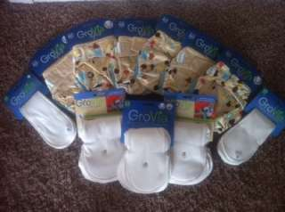 NWT GroVia AI2 / 100% Organic Cotton Soakers / Stay Dry & Boosters Lot
