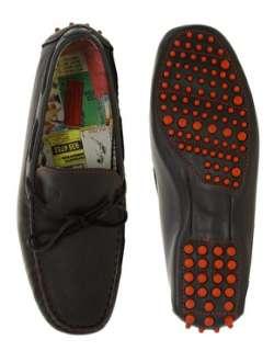 Jeffery West  Jeffery West Black Line Tie Front Driving Shoes at ASOS