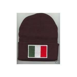 ITALY ITALIAN Flag Beanie HAT SKI CAP Black NEW Home