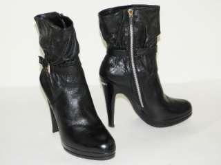 MICHAEL KORS Veronica Black Platform Boots Shoes 10 NIB