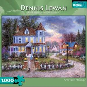 Dennis Lewan American Holiday 1000 Piece Jigsaw Puzzle  Toys & Games