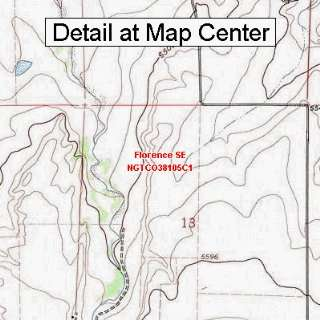 USGS Topographic Quadrangle Map   Florence SE, Colorado