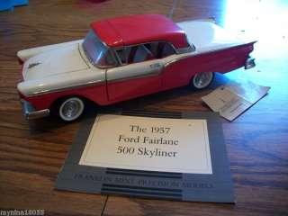 FRANKLIN MINT 1957 Ford Fairlane 500 Skyliner