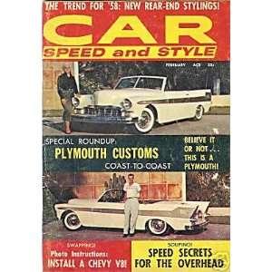 CAR SPEED & STYLE MAGAZINE   FEBRUARY 1958   VINTAGE