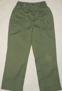 OFFICIAL BOY SCOUT UNIFORM Green 6 pocket PANTS 12 w 26
