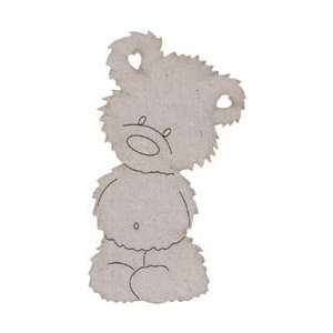 Fabscraps Die Cut Grey Chipboard Embellishments Teddy Bear