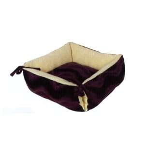 NEW Brown Square Dog Cat Pet Dount Bed Lounger Pillow
