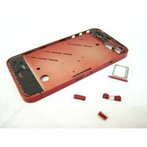 Apple iPhone 4 G 4G ~ Metal Red Middle Cover Case Housing