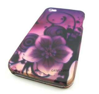 MAGIC PURPLE FLOWER HARD SNAP ON CASE COVER APPLE IPHONE 4 4S PHONE