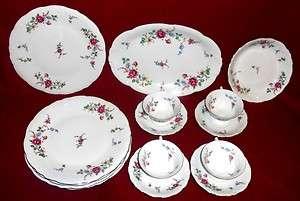 15pcs WAWEL SHERATON ROSE FINE CHINA DINNERWARE MADE IN POLAND