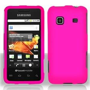 Rubber Hot Pink Hard Phone Case Samsung Galaxy Prevail