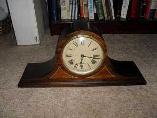 Antique Seth Thomas Mantle Mantel Shelf Tambour Chime Clock 89