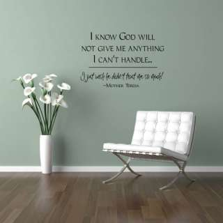God Trust Heart Vinyl Wall Saying Decal Sticker 17x26