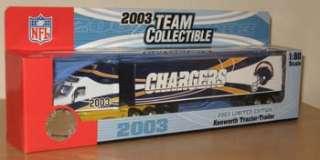 2003 Fleer San Diego Chargers Kenworth Tractor Trailer