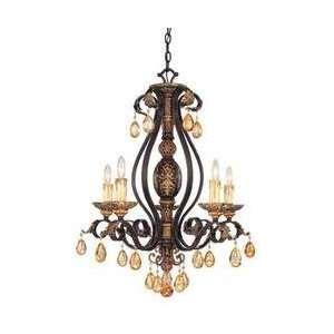 Savoy House 1 1800 5 62 5 Light Eldora Chandelier, Como Black: