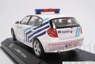 HONGWELL CARARAMA BMW SERIE 1 124 LIMITEERD 2009 POLIZEI BELGIEN