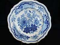 Antique Spode Jasmine Pattern Blue Plate 1825 1833